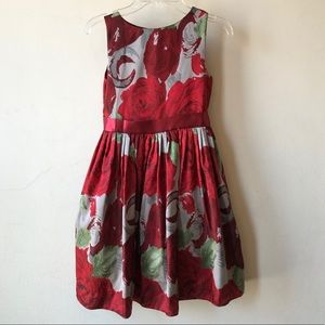 Beautiful Us Angels Girls Rose Print Dress Size 8